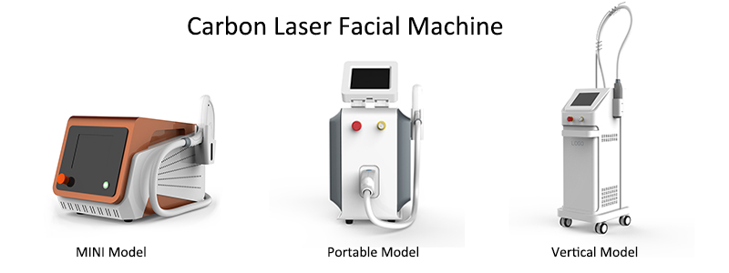 3 types of carbon laser facial Machine