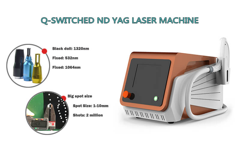 Q-switched nd yag laser machine for tattoo removal