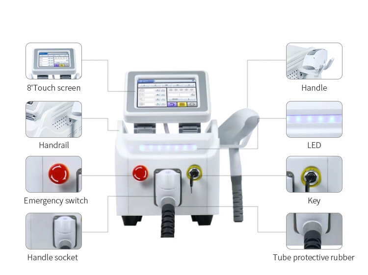 q-switched nd yag laser machine structurer