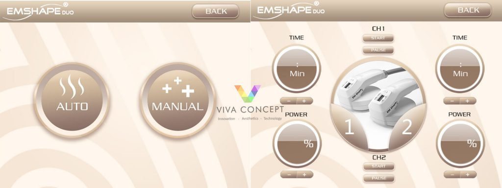 Emshape Duo interface